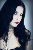 Portrait of the girl in Gothic style Royalty Free Stock Photography