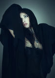 Portrait of the girl in Gothic style Stock Photography