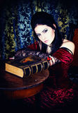A portrait of the girl in Gothic style Royalty Free Stock Image