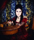A portrait of the girl in Gothic style Royalty Free Stock Photos
