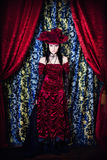 A portrait of the girl in Gothic style Royalty Free Stock Images