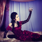 A portrait of the girl in Gothic style Royalty Free Stock Photo