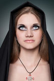 A portrait of the girl in Gothic style Stock Photos