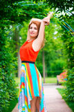 Portrait of a girl in a green arch Royalty Free Stock Photography