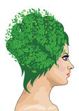 Girl with green hair Royalty Free Stock Photography