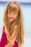 Portrait of a girl.Happy holiday Royalty Free Stock Image