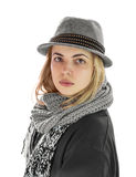 Portrait of a girl in a hat. Royalty Free Stock Images