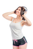 Portrait of a girl in headphones Royalty Free Stock Photo