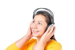 Portrait of a girl in headphones Royalty Free Stock Images
