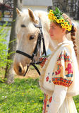Portrait of a girl and her horse Royalty Free Stock Photography