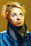 Portrait of a girl in a jacket Stock Photo
