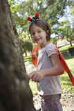 Portrait Of Girl In Ladybug Costume Stock Images