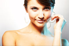 Portrait of girl with light lipstic Stock Photography