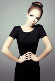 Portrait of a girl in a little black dress. Royalty Free Stock Photos