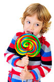 Portrait of girl with lollipop Royalty Free Stock Photo