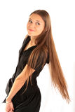 Portrait of a girl with long hair Stock Photo