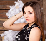 Portrait of a girl looking to the side. Stock Images