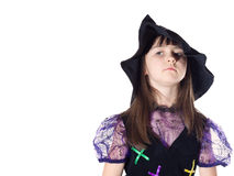 Portrait of girl in magician costume Royalty Free Stock Photo