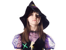Portrait of girl in magician costume Stock Images