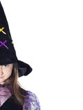 Portrait of girl in magician costume Stock Image