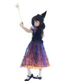 Portrait of girl in magician costume Stock Photos