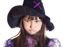 Portrait of girl in magician costume Royalty Free Stock Photos