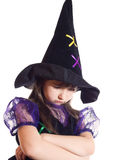 Portrait of girl in magician costume Royalty Free Stock Photography