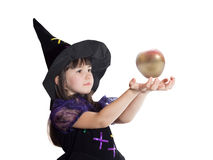 Portrait of girl in magician costume Royalty Free Stock Images