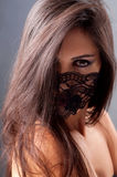 Portrait of a girl in a mask Royalty Free Stock Photography