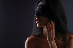 Portrait of a girl in a mask Royalty Free Stock Image