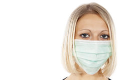 Portrait of a girl in a medical mask Stock Photos
