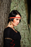 Portrait of the girl in a medieval dress Royalty Free Stock Photography
