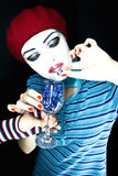 Portrait of the girl mime Royalty Free Stock Photography