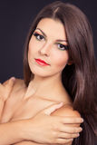 Portrait of a girl model Royalty Free Stock Image