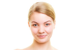 Portrait girl with natural makeup isolated Royalty Free Stock Photos