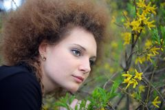 Portrait of a girl in nature Royalty Free Stock Photography