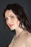 Girl in a necklace Stock Photos