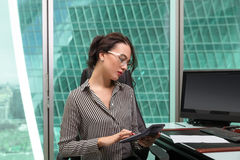 Portrait of a girl office worker Stock Photo