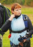 Portrait the girl parachutist Royalty Free Stock Photos