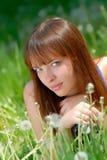 Portrait girl, park Stock Images