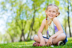 Portrait of a girl in a park Royalty Free Stock Photography