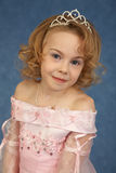 Portrait of girl in pink dress Royalty Free Stock Photos