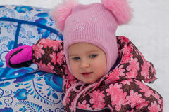 Portrait of a girl in a pink hat Royalty Free Stock Image