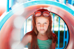 Portrait of a girl on the playground Stock Photography