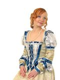 Portrait of girl in Polish clothes of 16 century Stock Photography