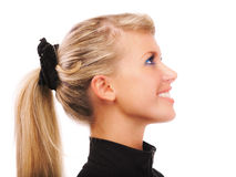 Portrait of girl with ponytail Stock Image