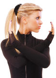 Portrait of girl with ponytail Stock Photography