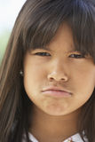 Portrait Of Girl Pouting Royalty Free Stock Photography