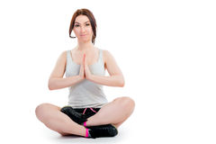 Portrait of a girl practicing yoga Royalty Free Stock Image