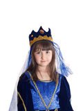 Portrait of girl in princess costume Royalty Free Stock Images